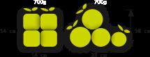 Vergleich quadratischer und normaler Früchte
